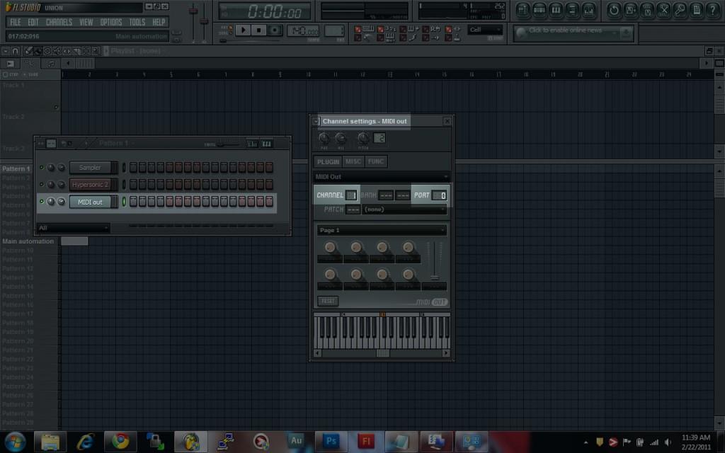 FL Studio MIDI Out Settings