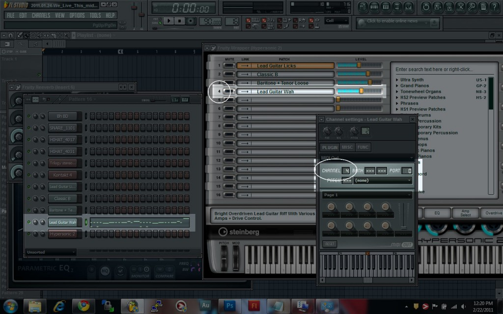 Multiple Instruments on Hypersonic 2 on FL Studio