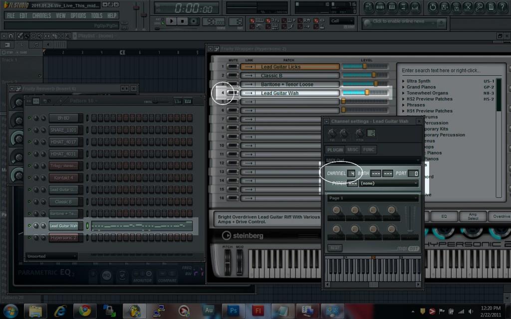 Multiple Instruments on Hypersonic 2 on FL Studio