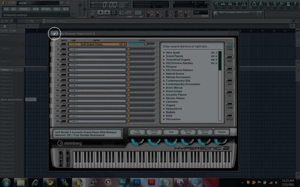 FL Studio VSTi Settings Button