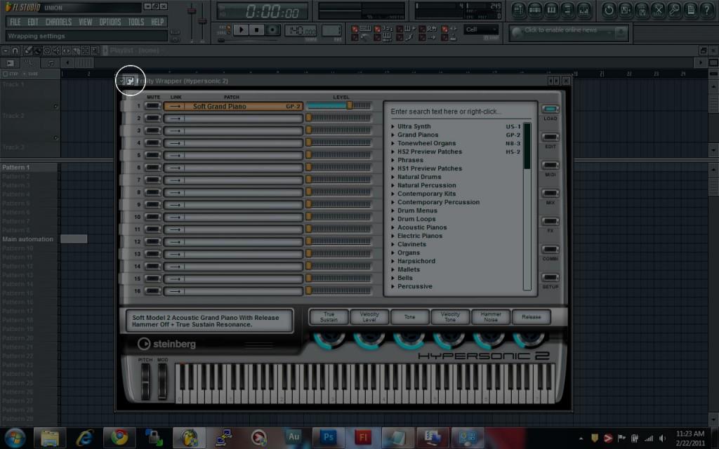 FL Studio VSTi Settings Button
