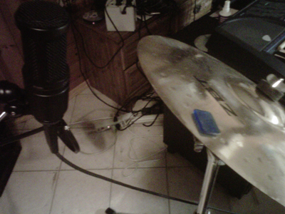 Audio Technica 2020 on a Crash-Ride Cymbal