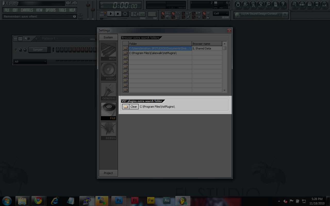 The path to your VST Plugins in FLStudio.