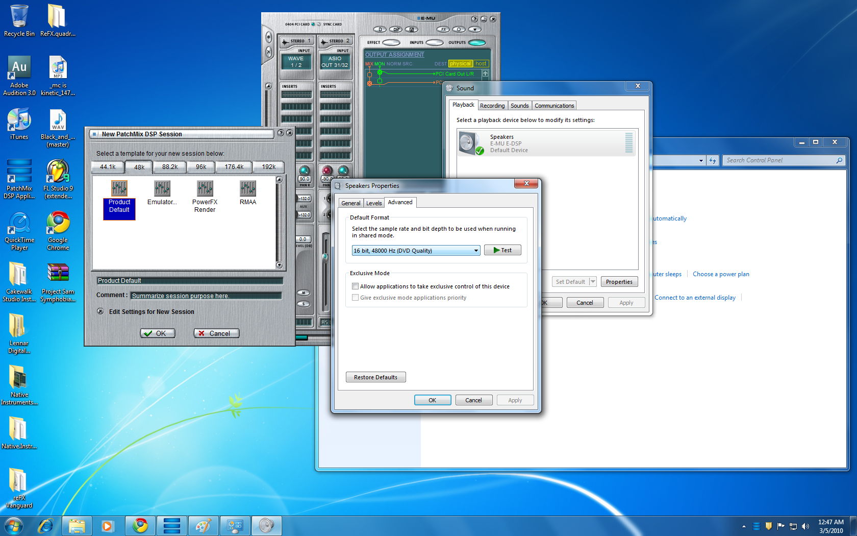 Patch Mix and Windows Sound for Windows 7